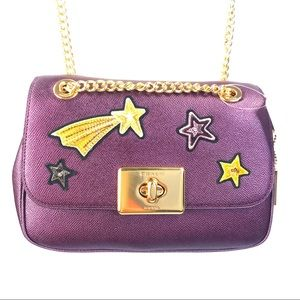 CASSIDY CROSSBODY Star Patches F38341 RASPBERRY